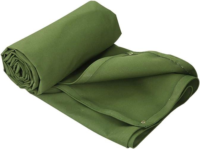 HU Bache imperméable Verte épaissie - La bache en Polyester Durable Comprend des Oeillets pour la Prougeection Solaire au Camping (Taille   3x4m)