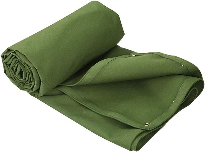 WHS Bache imperméable Verte épaissie - La bache en Polyester Durable Comprend des Oeillets pour la Prougeection Solaire au Camping (Taille   7x5m)