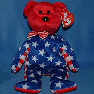 Ty Beanie Baby Liberty red - MWMT (Bear Red Head 2001) Patriotic#by:tkeeper