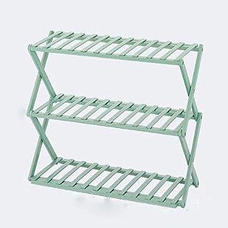 JJZXT Bois 3 Niveau Chaussures Support for étagère Closet, Maison Simple économie d'espace de Stockage Organisateur Pliabl...