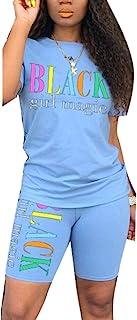 Women's Rainbows 2 Piece Outfit - Casual T-Shirts Workout Tracksuit Bodycon Pants Suit Set Jumpsuit Rompers