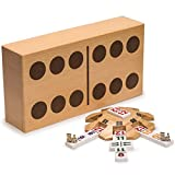 Yellow Mountain Imports - Complete Mexican Train Dominoes Set with Double 12 Dominoes