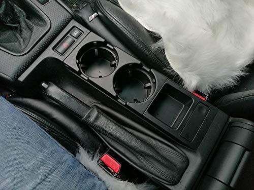 Organizador Coche doble orificio central delantero taza consola de rack/caja de cambio for BMW E46: negro (Color : Black)