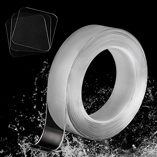 Premium Alien Double Sided Tape as Seen on TV984 FT Heavy Duty Nano Tape Strong Adhesive Wall Hanging Tape Washable Transparent Tape Carpet Tape ADIVEE