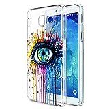 Funda Samsung Galaxy A5 2017, Eouine Cárcasa Silicona 3D Transparente con Dibujos Diseño Suave Gel TPU [Antigolpes] de Protector Bumper Case Cover Fundas para Movil Samsung Galaxy A5 2017 (Ojo)
