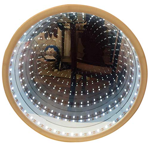 JUSTDOLIFE Night Light,JUSTDOLIFE Infinity Mirror Light Decorative Round 3D LED Table Lamp LED Mood Light for Room