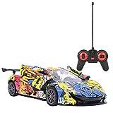 Carro de Control Remoto, 1: 18 Escala de Alta Velocidad RC Car, simulación Sport Racing Hobby Toy Car Model Vehicle para niños niñas Adultos con Luces y Controlador