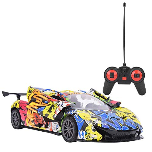 Carro de Control Remoto, 1: 18 Escala de Alta Velocidad RC Car, simulación Sport Racing Hobby Toy Car Model Vehicle para niños niñas Adultos con Luces y Controlador