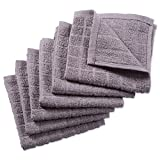 DII Cotton Terry Windowpane Dish Cloths, 12 x 12' Set of 6, Machine Washable and Ultra Absorbent Kitchen Bar...