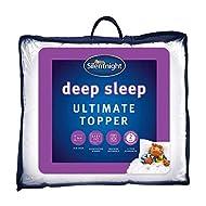 Silentnight Ultimate Deep Sleep Topper - Extra Thick Deep Mattress Topper Luxury Cotton Soft - Machi...