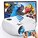 Wireless Wifi Video Projector 4500L, FAERSI 2020 Upgraded Mini Home Projector Support Dolby