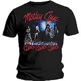 Motley Crue Smokey Street Black Men's T-Shirt (Large)