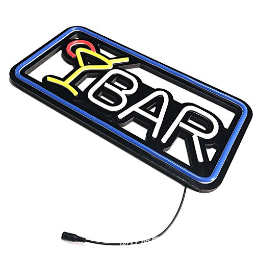 FEZBD Cocktail Bar LED Neon Signage Fensterdekoration Light Box Schwarz-Bodenplatte Bar Pub Dekoration Neon-Lampe Vorstand Handelsbeleuchtung