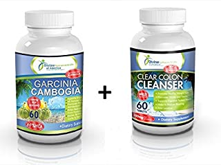 Garcinia Cambogia 80% HCA Extract + Colon Cleanse Toxin Detox Calcium-free* Weight Management 1500mg Formula