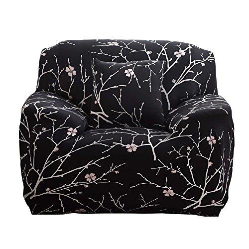 Fancylande Funda de sofá Extensible, Funda de sofá Gruesa Funda para sofá sofá Impreso Stretch Venus 1, 2, 3plazas (Negro Remarquable), Funda de combinación impresión elástica, Colorful, 1 Plaza