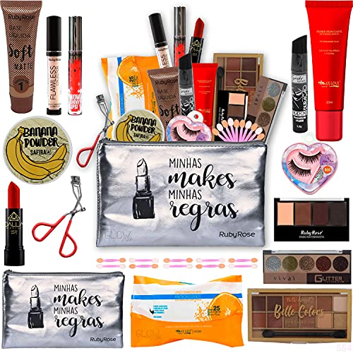 Kit Maquiagem Completa Ruby Rose +brinde Necessaire