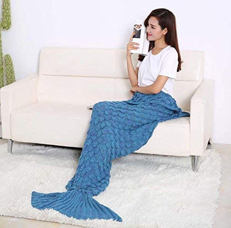 JINGB Home Mermaid Knit Mermaid Tail Sofa, Lake bluee, 195  90CM (76.8  35.4 inch) (color   Lake bluee, Size   195  90CM)