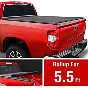 MaxMate Soft Roll Up Truck Bed Tonneau Cover for 2014-2020 Toyota Tundra | Fleetside 5.5' Bed