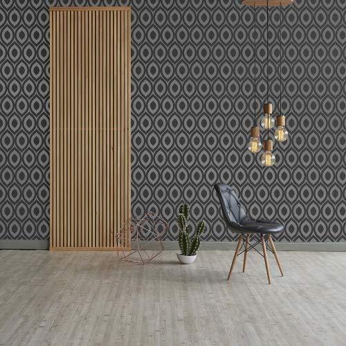 Crown Wall Coverings Rimini behang, grijs, M1160 volledige rol