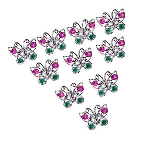chiwanji 10 Kunststoff Schmetterling Freund Ringe Für Mädchen Kinder Kinder Mitbringsel Geschenke
