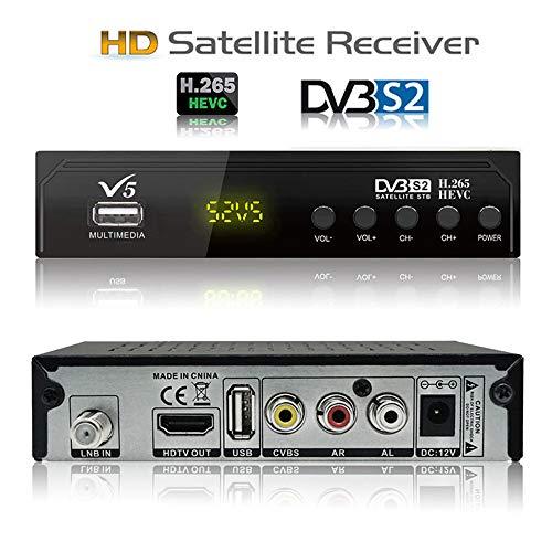 Koqit V5 H.265 FTA Satellite TV Receiver HD...