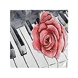 Lerous Servilletas de piano rosa fiesta boda almuerzo cumpleaños decoración del hogar servilletas de tela suave 20 x 20 pulgadas Set de 1, multicolor, Set of1