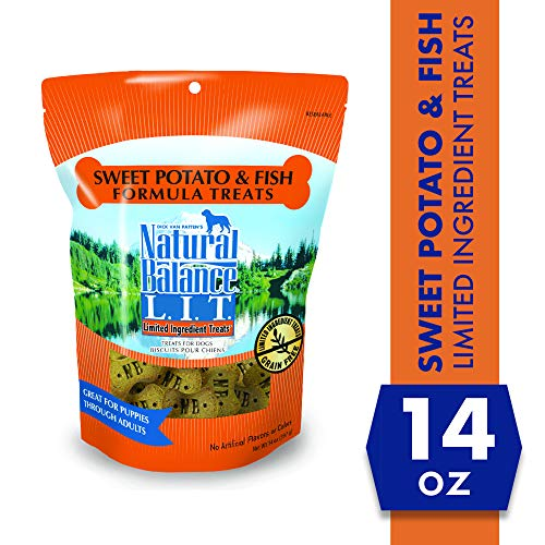 Natural Balance L.I.T. Limited Ingredient Treats Dog Treats, Sweet Potato & Fish Formula, 14 Ounce Pouch, Grain Free
