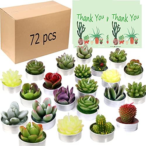 AIXIANG 72Pcs Cactus Candles Succulent Candles, Wedding Party Favors for Guests, Bridal Shower Candles Favors