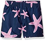 Kanu Surf Boys' Troy Quick Dry UPF 50+ Infant & Baby Trunks, Starfish Navy/Pink, 24 Months
