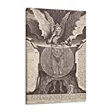 Lucifer Baphomet Satan Poster auf Leinwand, Wandkunst,