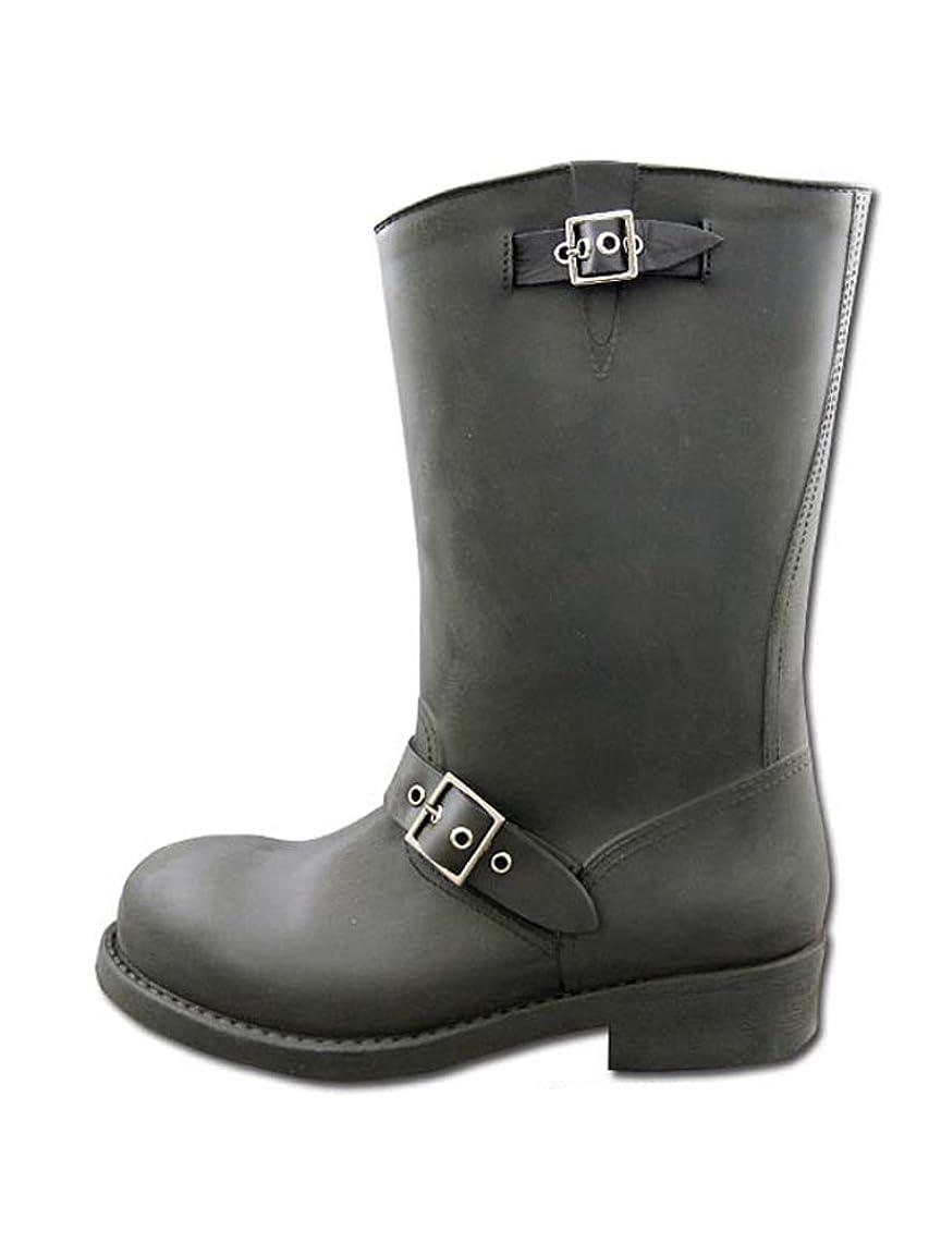 中止します適合しました考えた雨靴 エンジニアタイプ レインブーツ レディース ブラッシュド加工 レインシューズ:md-eu-6013