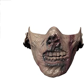 ZDNALS Halloween Mask/Skull Heads Mask/Game Protective Mask/Halloween Zombie Zombie Walking Dead Half Mask (Size : A)