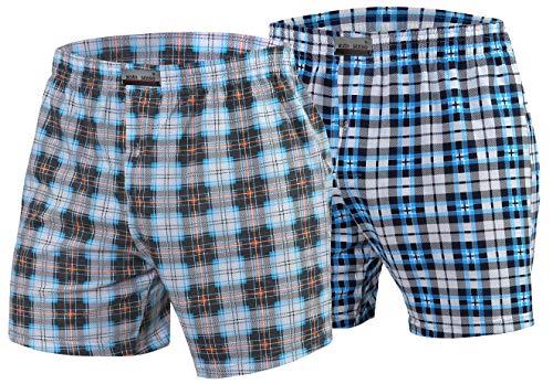 Sesto Senso Pantaloncini Pigiama Uomo Cotone Corti 2 Pacco Shorts Quadri M 7+15