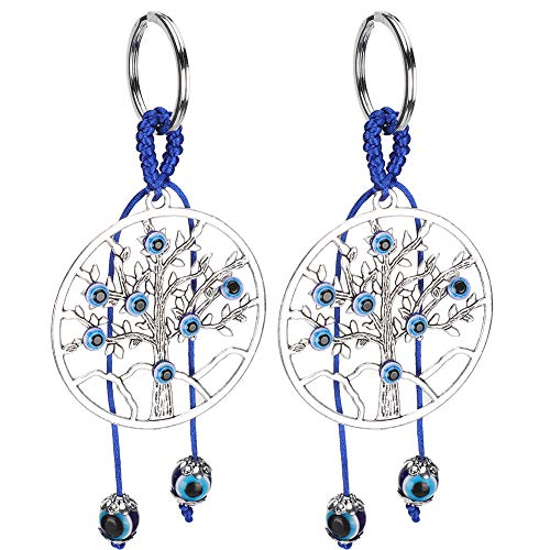 Atyhao 2pcs Schlüssel anhänger, Baummuster Fall Handtasche Schlüsselanhänger Gepäckkoffer Schlüsselring Dekoration Ornament Geschenk