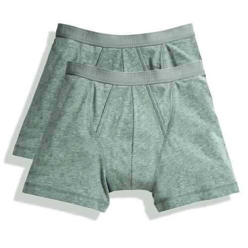 Fruit of the Loom Classic Boxershorts (4er Pack), Größe:XL;Farbe:4xLight Grey Marl