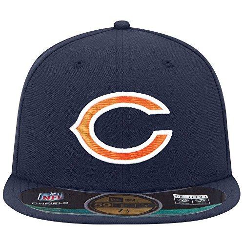 New Era Cappellino con Logo Chicago Bears, Uomo Unisex, 10529774, Blu Navy, 7 3/8