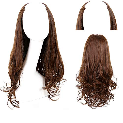 Perruques longues et bouclées en forme de U pour une utilisation quotidienne
