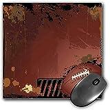 Fonctionnement du tapis de souris Des sports Tapis de souris de bureau étanche et épais Le thème du rugby marron grunge avec les éléments du jeu est une image gagnante en image de sport Artisan,brun n