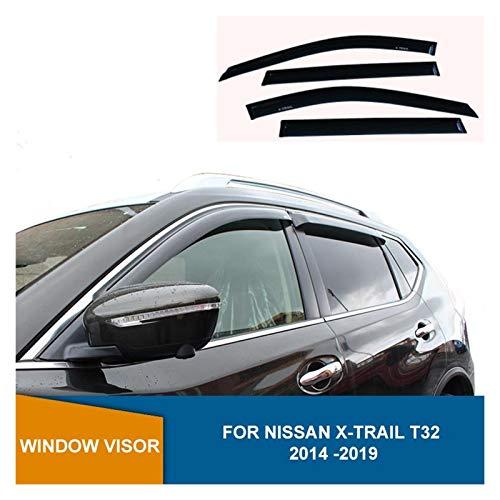 WRDD Windabweiser Für Nissan X-Trail T32 Rouge 2014 2015 2016 2017 2018 2019 Seitenfenster Deflektoren Fenster Visier Sonnenregen Deflektoren Autofenster Regenschutz