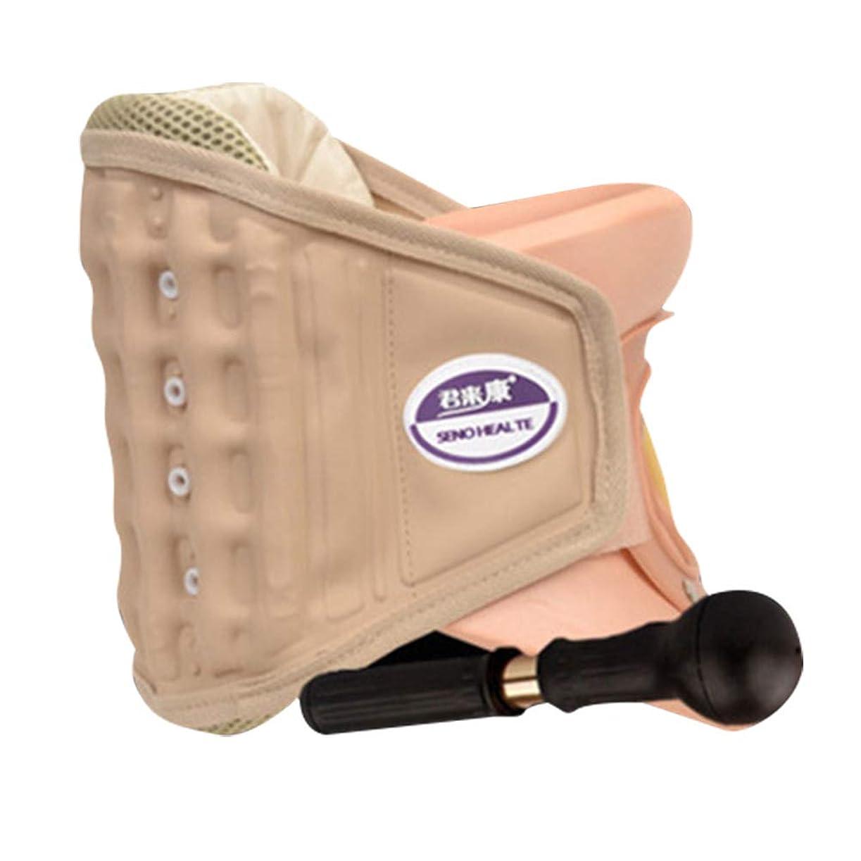 薄暗い市区町村問い合わせSUPVOX 頸部首牽引襟デバイス装具椎骨サポートベルト付きポンプポータブルネックマッサージャー