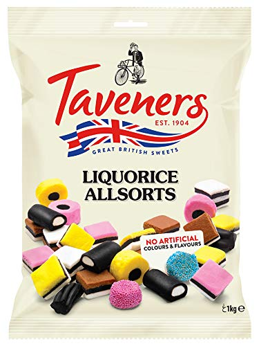 Taveners Liquorice Allsorts - Lakritzmischung, 1 kg