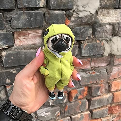 PFZL Lindas muñecas de Resina de Animales de Moda, Mogwai Hecho a Mano muñeca de Arcilla de Animales, Linda Caricatura de Perrito decoración colección de muñecas Figuras Creativas (D)