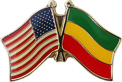 ALBATROS Pack of 3 USA American Ethiopia Flag Lapel Pin for Bike Hat and Cap for Home and Parades, Official Party, All Weather Indoors Outdoors