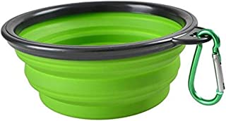 MoPets Large Collapsible Silicone Dog Bowl 12 oz. Travel Friendly Foldable Cat and Dog Water and Food Feeding Dish