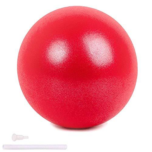Pelota de Mini Pilates 25cm Pelota de Ejercicios de Sports Balón de Yoga para Ejercicios Abdominales Masaje y Gimnasio en Casa y Ejercicios básicos de rehabilitación de Hombros (Rojo)