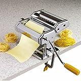 axentia Nudelmaschine in Silber, verchromter Pastamaker für Lasagneplatten, Spagetthi oder Bandnudeln, Pastamaschine manuell mit Kurbelantrieb, Pasta-Maschine für Hobbykoch oder Profi - 2