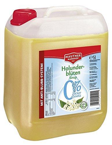 Mautner Markhof Holunderblüten 0% Zucker Sirup 5l