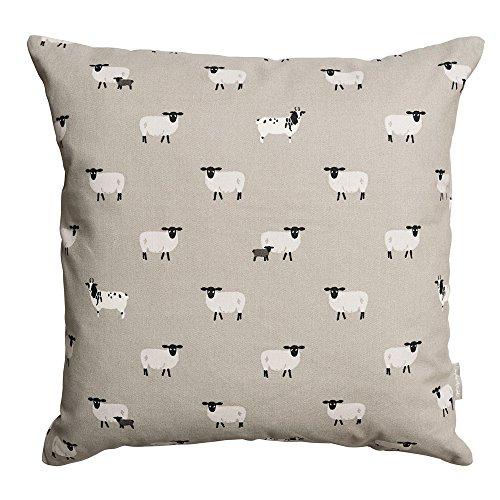 Sophie Allport 100% Cotton Sheep Cushion - (45cm x 45cm)