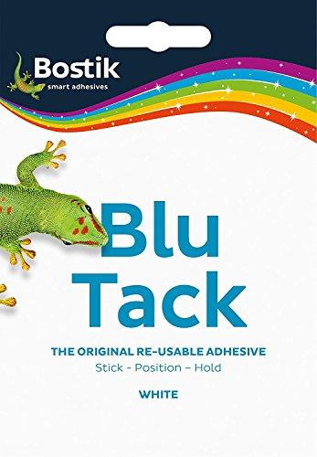 Bostik blu-tack Mastixkleber, ungiftig, weiß 60g, Ref 801127, weiß, Handy Pack (approx 60g)