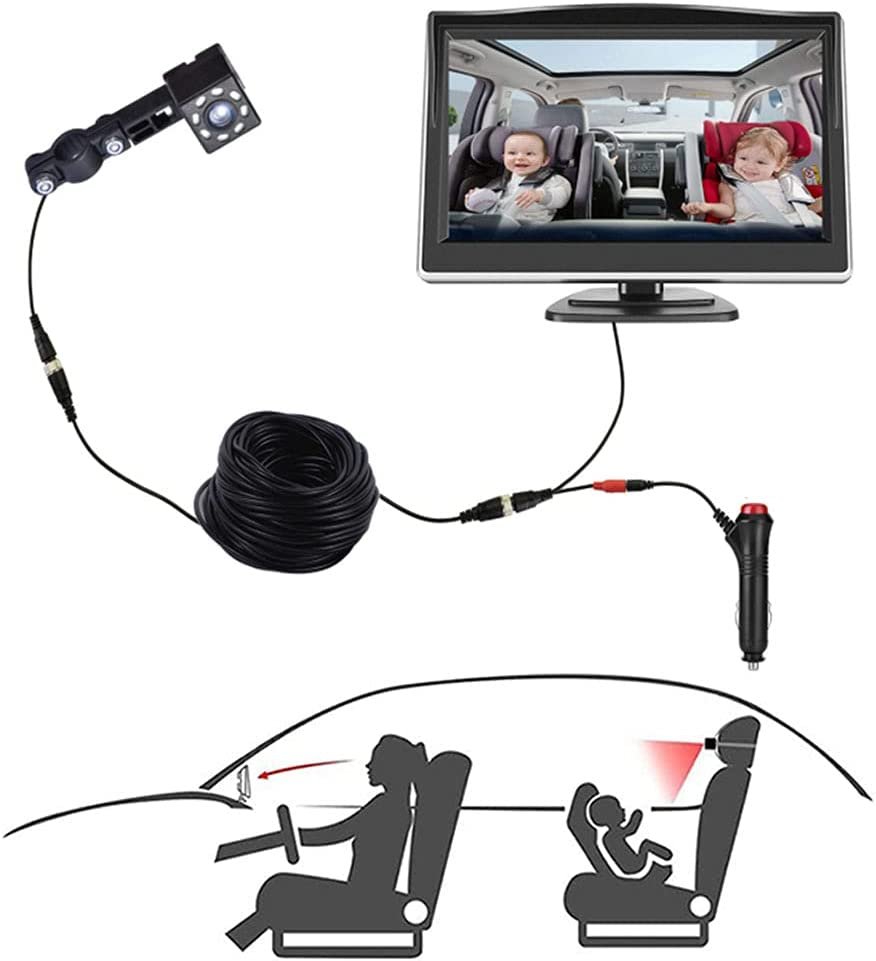 Baby Car Mirror, Back Seat Baby Car Camera with HD Night Vision, Observe the Baby's Move while Driving